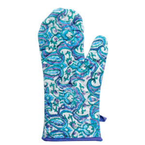 Hand Block Printed Cotton Mitten