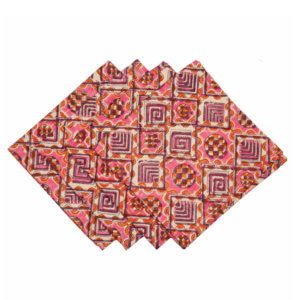Hand Block Printed Cotton Napkins (set of 4)