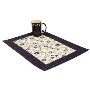 Hand Block Printed Cotton Table Mats (Set of 6)