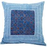 Handloom Ajrakh Printed Cotton Cushion Cover