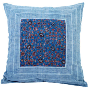 Handloom Ajrakh Printed Cotton Cushion Cover