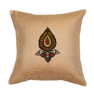 Handloom Cotton-Silk Cushion Cover