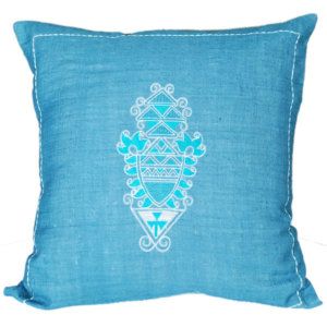 Handloom Tussar Silk Cushion Cover